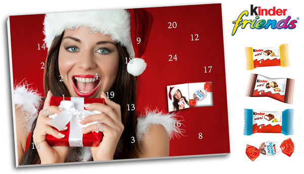 Foto Adventskalender Mit Kinder® Schokolade